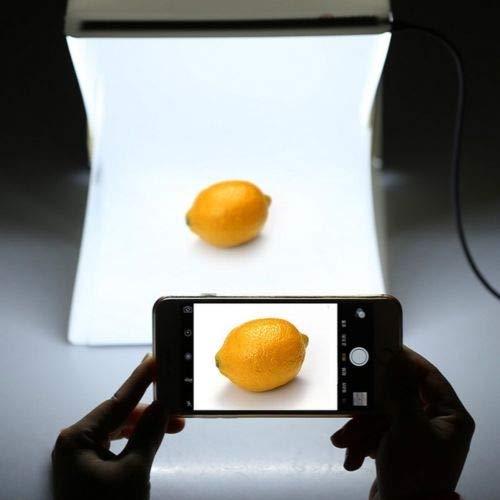 9. Caja de Luz de Estudio Fotográfico de 6 Pulgadas X 9. 3 Pulgadas Caja de Cubo de Fondo de Kit de Carpa de Iluminación de Fotografía de 20 Led para Fotografía de Producto