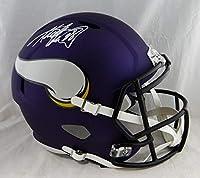 Adrian Peterson Autographed Minn Vikings F/S Speed Helmet- Beckett Auth *White - Autographed NFL Helmets