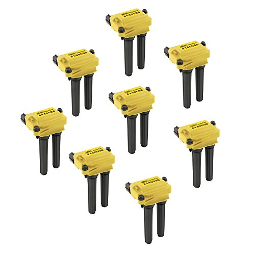 ACCEL 140038-8 Ignition SuperCoil Set (Pack of 8),Yellow/Black