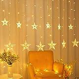 Areskey Star Christmas Lights,138 LED 12 Star Curtain String Lights,Waterproof Star Lights...