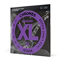D'Addario ECG24 Satz Chromsaiten für E-Gitarre 011' - 050' Jazz Light
