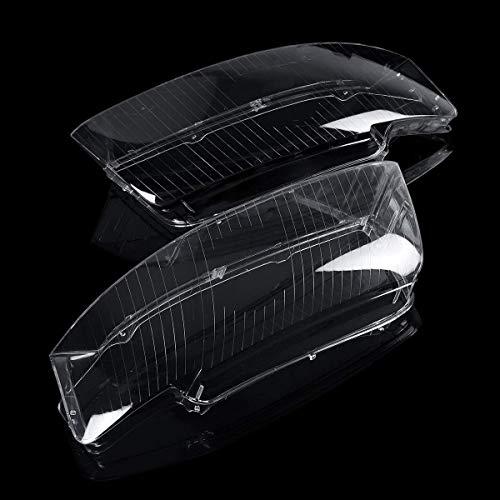 Zimaes Duradero Lámpara de Cabeza de Faro moldeable Lente de la Lente Pareja Reemplazo para Audi A4 B6 2002-2005 Fuerte