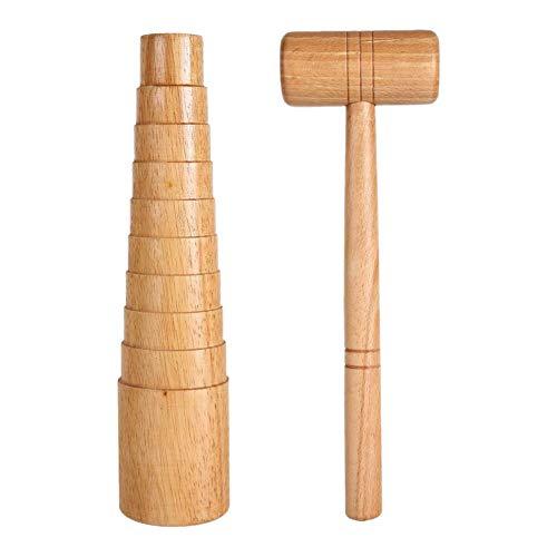 Dasing 2 StüCk Holz Armband Armreif Dorn Stick Armreif Messung Vergr??ERN Juwelier Werkzeug