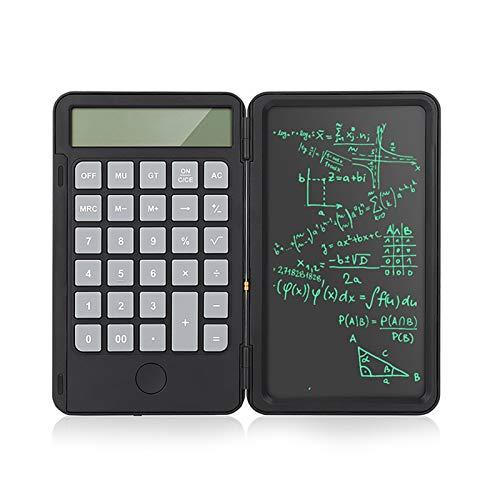 QQO Taschenrechner, 6,5-Zoll-ultradünnen Handschrift Bord mit Rechner Portable intelligente LCD wiederaufladbare Falten Grafikkarte Mini Zeichnung Pads (Color : A)