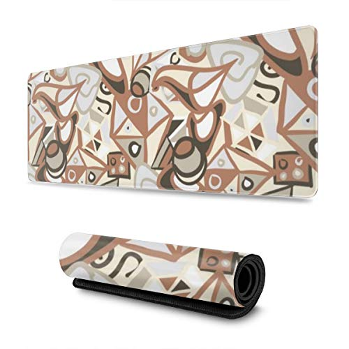 Gaming Mouse Pad Abstract Shapes In Pastel Colours 30 X 80 CM Professional Gaming Mouse Mat with Rubber Base