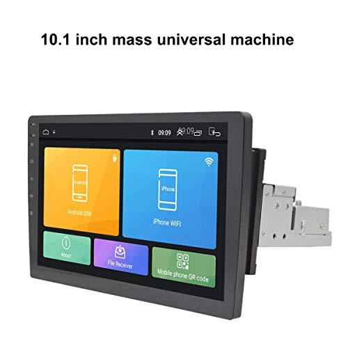 Camisin 10.1 pulgadas Android 8.1 1 DIN reproductor multimedia para coche 8 núcleos 2G + 32G 180 grados ajustable pantalla giratoria GPS WiFi reproductor de audio estéreo
