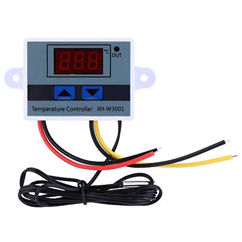 Controlador digital de temperatura LED, DC 12V 120W Mini interruptor termostato programable con sonda de sensor a prueba de agua para Smart Home/Incubator Aquarium(-58 ℉ a 230 ℉)