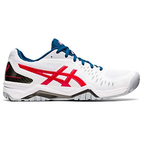 ASICS Gel-Challenger 12, Zapatos de Tenis Hombre, White Classic Red, 44 EU