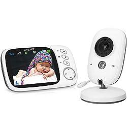 """2.4/""""TFT LCD Babyphone mit IR Nachtsicht Temperaturüberwachung und Drahtlo Kamera"""