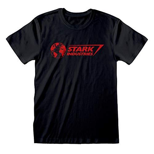 Marvel Avengers Assemble Industrias Stark Logo Camiseta para Hombre Negro 3XL