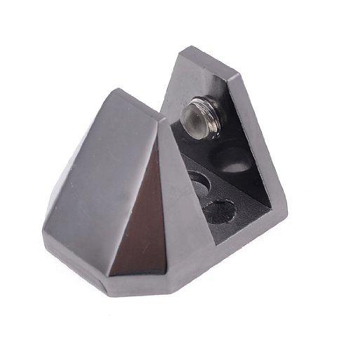 9.7mm-12.5mm Dikte Zwart Metalen Ladder Vorm Kast Plank Glas Clip
