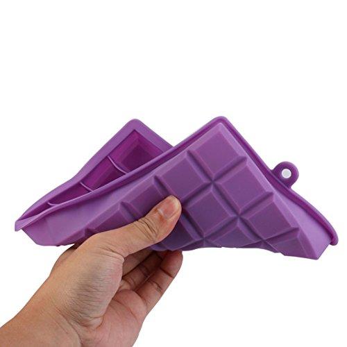 Eiswürfelbehälter, BZLine® Hot Silikon Frost Mold Bar Pudding Jelly Chocolate Maker Mold, 24 Ice Cube (Lila)