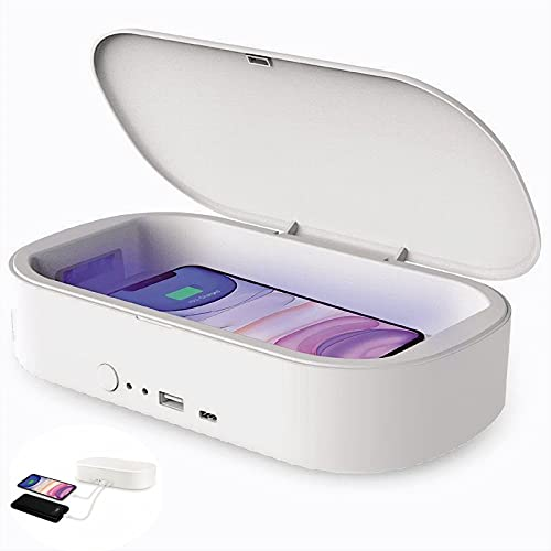 Esterilizador UV, con Cargador Inalámbrico USB, Esterilización del...