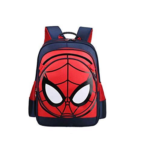 Mochila impermeable con diseño de Spiderman 3D para niños, S-dark blue-M