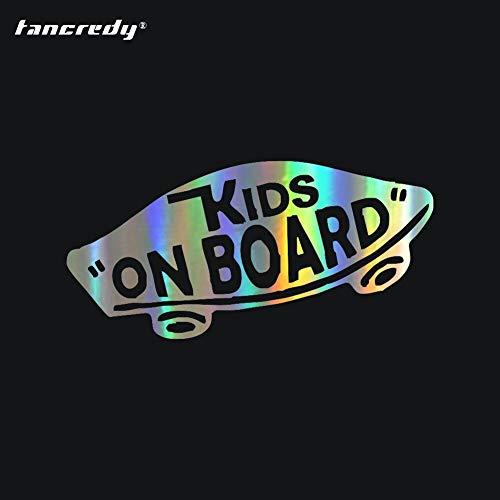Tancredy Kids ON Board Baby on Board Advertencia Car Styling Decoración Puerta Cuerpo Ventana Pegatinas de Vinilo 19 * 8CM