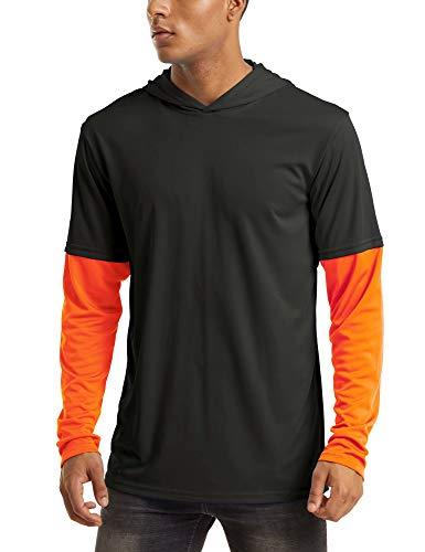 MAGCOMSEN Hiking T Shirt Long Sleeve T Shirt Quick Dry Shirts Rash Guard Mens Summer Shirts UPF Shirt Protective Shirt Fishing T Shirt Workout Shirts for Men Black