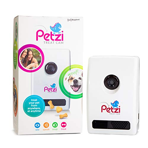 Petzi Treat Cam: Wi-Fi Pet Camera & Treat Dispenser, Enabled with Amazon Dash Replenishment
