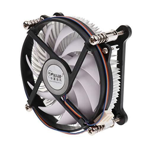 Shiwaki 4 Pines Computadora CPU Refrigeración PWM Ventiladores Estuche Disipador de Calor Silencioso Negro