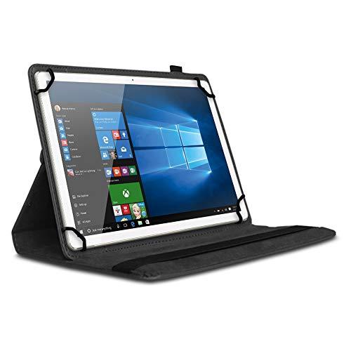 UC-Express Tablet Hülle kompatibel für Blackview Tab 8 Tasche Schutzhülle Case Schutz Cover 360° Drehbar 10.1 Zoll Etui, Farben:Schwarz