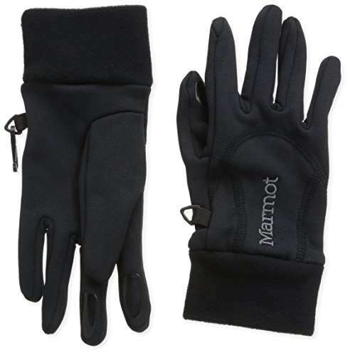 Marmot Power Stretch Handschuh, Damen,Schwarz (Black), S