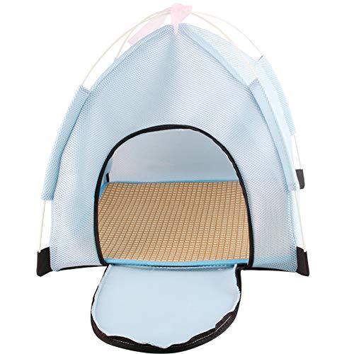Kat Tent Hond Schaduw Tent Outdoor Kat Huis Hond Tent Bed Hond Huis Indoor Bed Opvouwbare Cat Bed Hond Huis Hond Zonnescherm Outdoor Hond Bed blue