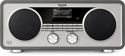 TechniSat DIGITRADIO 600 – Stereo Internetradio (DAB+, UKW, 70 Watt 2.1 System mit Subwoofer, Fernbedienung, CD-Player, USB, Bluetooth, AUX, WLAN, LAN, Radiowecker, Spotify Connect) anthrazit
