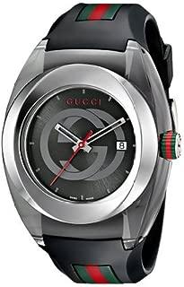 グッチ Gucci SYNC XXL YA137101 Stainless Steel Watch with Black Rubber Bracelet 男性 メンズ 腕時計 【並行輸入品】