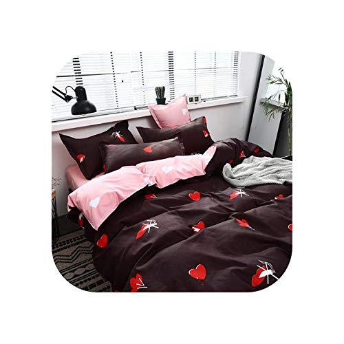 Dream-catching Dresses Spannbetttuch |Heimtextilien 3D Bettwäsche-Sets Baumwolle Leopard Getreide Rose Panther Queen 4 Stück Bettbezug Bettlaken Kissenbezug Bettwäsche-K9-Queen
