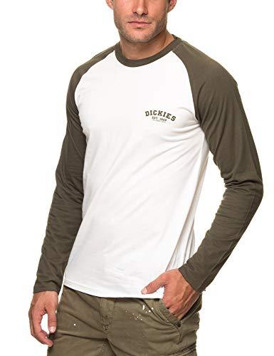 Dickies Baseball Camiseta de Manga Larga, Multicolor (Dark Olive Dko), X-Small para Hombre