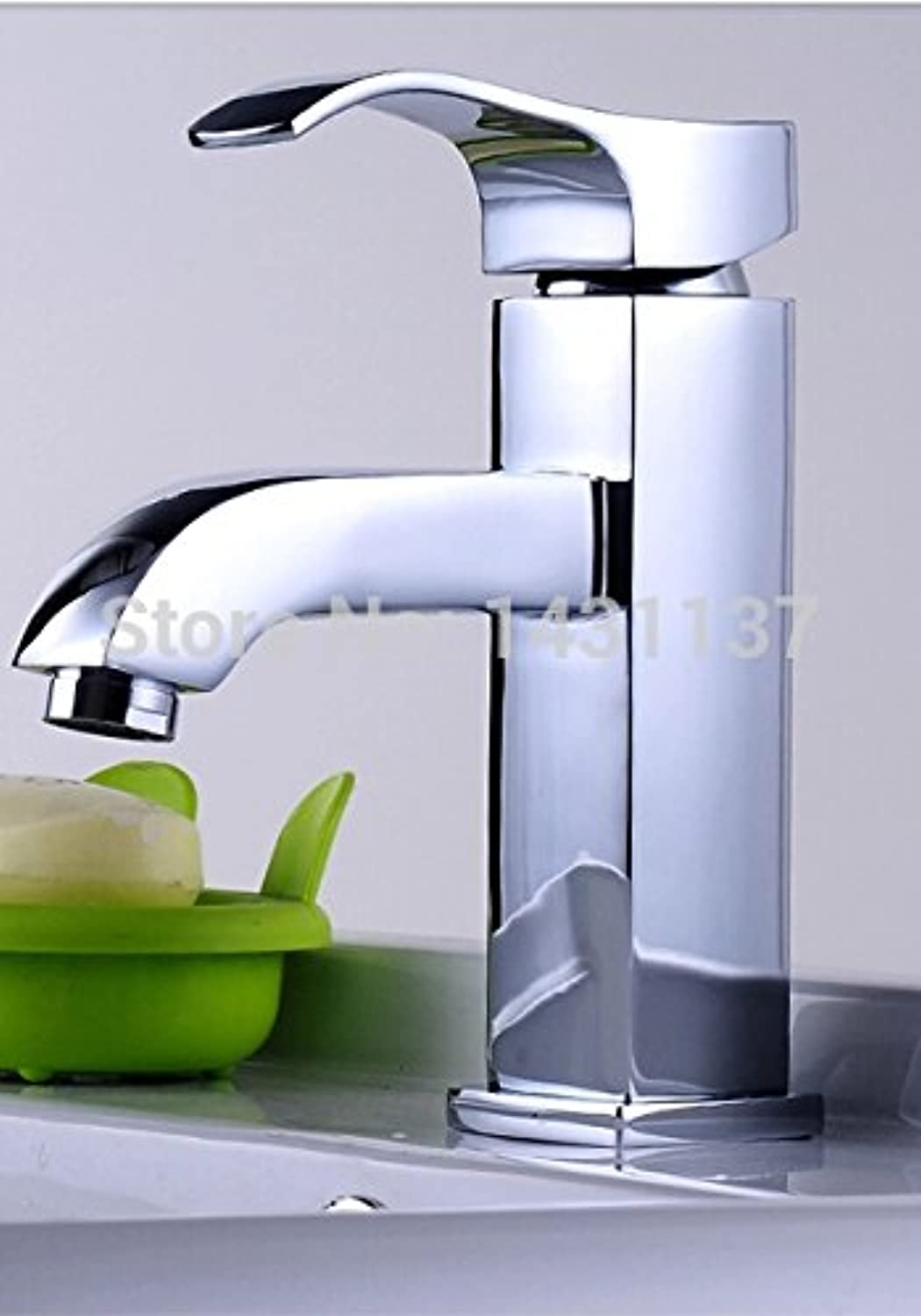U-Enjoy Brass Material Single Top Quality Lever Cold and Hot Home Bathroom Kitchen Bathroom Faucet Sink Mixer (Free Shipping)