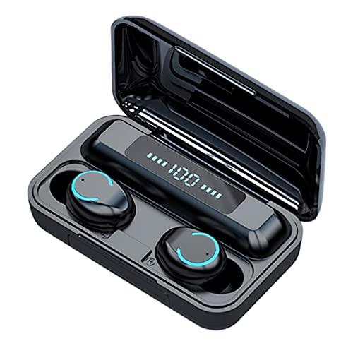 GGGJ Auriculares Bluetooth Auriculares Deportivos Bluetooth Auriculares Bluetooth con cancelación de Ruido Diseño Separado binaural Impermeable IPX7 Pantalla eléctrica LED Auriculares inalámbricos