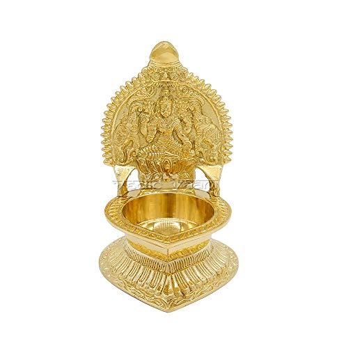Vedic Vaani Deep Lakshmi Diya/Oil Lamp in Brass (5.75 x 3.75)