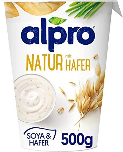 Alpro Yogur Vegetal Natural con Avena, 500g