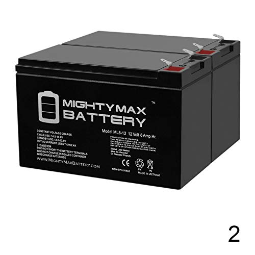 Mighty Max Battery 12V 8AH Razor Scooter ES300 E200 E300 Bella Betty Daisy Vapor - 2 Pack Brand Product