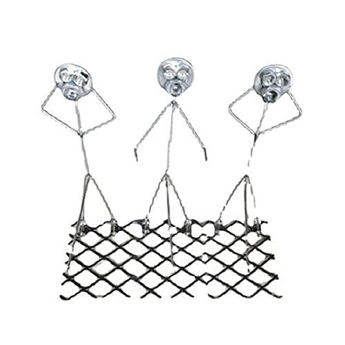 Wolfberrymetal Grillgabel, DREI Männer geformt Lagerfeuer Braten Stick Spieß Stick Grillgabeln Lustige Metall Handwerk Grillgabeln (9x21x19cm)