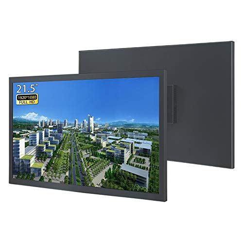 WIFIGDS 21.5 Zoll Full HD Monitor (1920 * 1080), 60 Hz (HDMI+VGA,DC,12V-3A) LCD Computer Monitor of TN Panel Wandmonitor für die Sicherheitsüberwachung auf industrieller Ebene/Tragbarer Spielmonitor