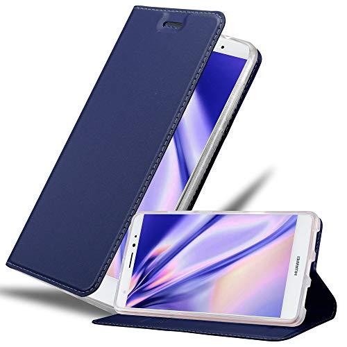 Cadorabo Funda Libro para Huawei Mate S en Classy Azul Oscuro - Cubierta Proteccíon con Cierre Magnético, Tarjetero y Función de Suporte - Etui Case Cover Carcasa
