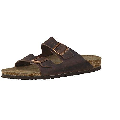 Birkenstock Schuhe Arizona Fettleder Schmal Habana (052533) 44 Braun