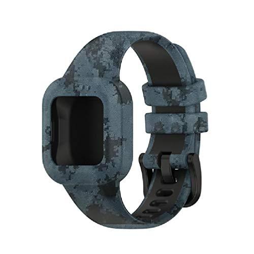 EATAN Team99 Compatible con Garmin Garminfit Jr3 y Garmin Vivofit Jr.3 Reloj universal para niños, correa de silicona de color sólido, talla única