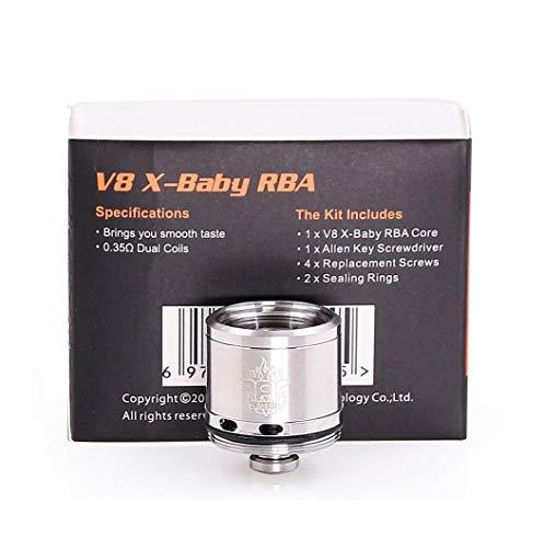 Bobina SMOK TFV8 X-Baby RBA de 0,35 ohmios - uso solo para V8 X Baby Tank - Cabeza de repuesto, Este producto no contiene nicotina ni tabaco