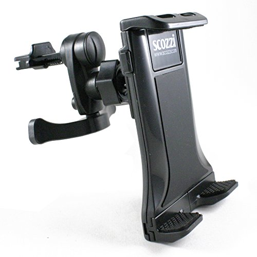 Supporto Auto scozzi® 360° Per [SONY Xperia XZ1 XZs XZ Z5 Z3 Z2 Z1 Z X E5 XA1 XA XA1 M5 M4 M2 ZL E E1 E3 E4g SP L L1 T2 + Compact Premium Ultra Aqua] Griglia Di Ventilazione Nero (am9)