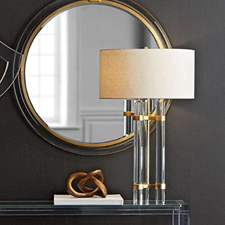 JINSH Home Amerikanischen minimalistischen Villa Schlafzimmer nachttischlampe hochwertigen kupferglas säule kreative kristall Wohnzimmer tischlampe B07JNFVNWV | Günstige