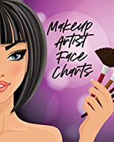 Makeup Artist Face Charts: Practice Shape Designs - Beauty Grooming Style - For Women
