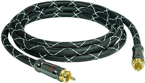 12,5m SunshineTronic Premium Subwoofer-Kabel | 4-Fach geschirmt | Mono Cinch Kabel | HQNL-12,5