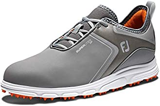 FootJoy Men's Superlites XP Golf Shoes, Grey/Black, 11 M US