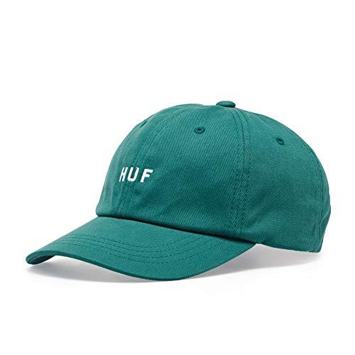 HUF Gorra de béisbol Original Logo Visera Curvada Verde Azulado - Ajustable