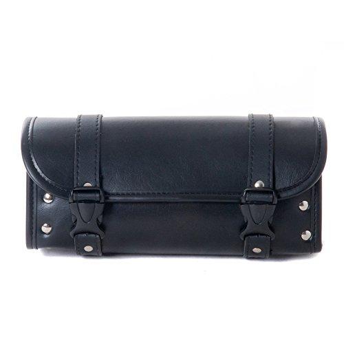 Motorcycle Bags, Saddlebags with Leather Shell, Black Handlebar Bag