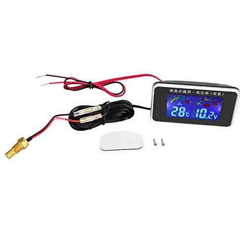 Wasserthermometer Sensor Auto LCD Bildschirm Voltmeter Wassertemperaturanzeige 12 V / 24 V / 36 V