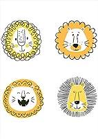 igsticker ポスター ウォールステッカー シール式ステッカー 飾り 594×841㎜ A1 写真 フォト 壁 インテリア おしゃれ 剥がせる wall sticker poster 015906 ライオン 黄色 動物
