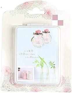 مرايا ماكياج - مرآة صغيرة الحجم لوضع المكياج قابلة للطي على الوجهين، مرآة مكياج نسائية كارتون كهدية (غطاء عشوائي)